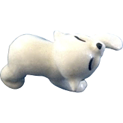 Retired Hagen Renaker Baby Piano Polar Bear 1982-1984 #A-809 Miniature Figurine