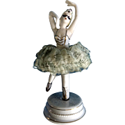 Masquerade Ballerina Mid-Century Twirls Lace Dress Japan Porcelain Figurine
