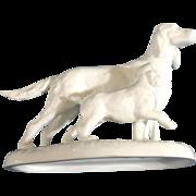 Noritake Mothers Day Irish Setter & Pup Dog Figurine 1977 - 1980 Discontinued Fine Bone China