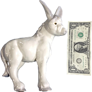 RARE Freeman McFarlin and Hagen Renaker Standing Donkey Pottery Figurine Discontinued