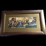 Aurora, Guido Reni (1575-1642) Vintage Print in Original Frame -1900-1930