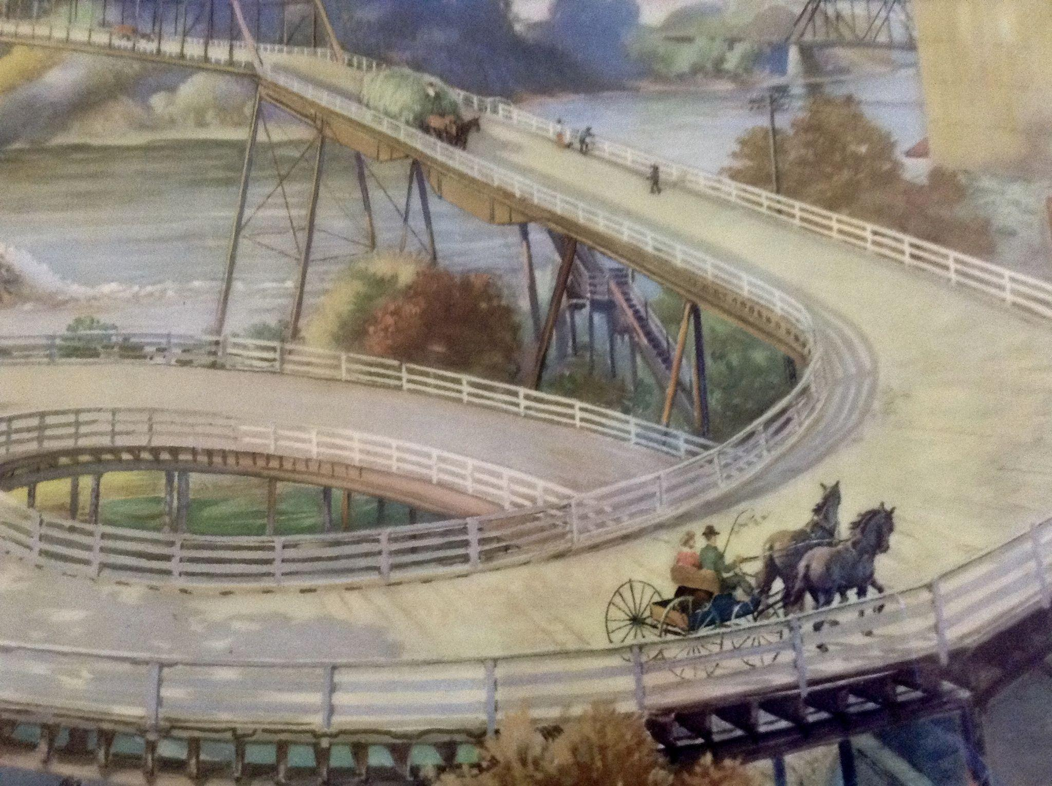 Edward Brewer The Old Spiral Bridge At Hastings Minnesota