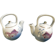 Occupied Japan Goldfish Teapot Salt & Pepper Shakers Vintage Figurines