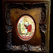 Gorgeous Vintage Cigar Box Label in Wood Frame Fabrica de Tabacos Romeo Y Julietta Medallas De Oro Made in Dominican Republic
