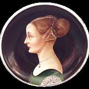 """Richard Ginori Ritratto D'Incognita - Pier della Francesca 4"""" Painting Portrait Plate Vintage"""