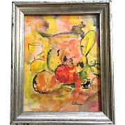 Carolyn Cole, Abstract Mixed Media Watercolor and Oil Painting Works on Paper Signed by Artist