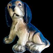 Vintage Western Germany Glazed Puppy Dog Mid-Century Ceramic Figurine