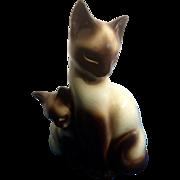 Kron Mid Century Modern Siamese Cat and Kitten 50's TV Lamp