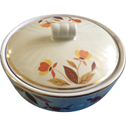 Autumn Leaf by Hall Medallion Drip with Lid (1936-1976) 2 3/4 in tall Ceramic Pottery