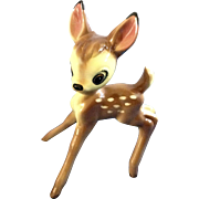 Vintage Walt Disney's Large Bambi Deer Animal Ceramic Figurine