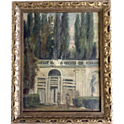 Antique 1905 Pintura Y Escultura Museo Nacional Numero 8HS  Oil Painting on Canvas from Museum