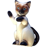 Vintage Goebel W. Germany Siamese Playful Sitting Cat, CK12/C TMK-6 1979-1991