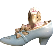 Beatrix Potter Appley  Dapply's The Old Woman who Lived in a Shoe Mice Fredrick Warne & Co. Beswick England Figurine