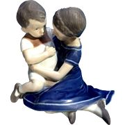 Vintage Royal Copenhagen Children Playing Figurine