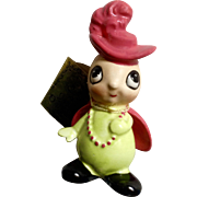 Josef Original Ladybug Adorable Figurine With Pink Feathered Hat