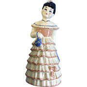 Ceramic Arts Studio Lillibelle Black Hair Woman 1950's Bell Ceramic California Pottery Lady Figurines