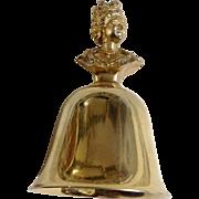 Vintage Table Metal Bell Elizabeth II 1952- Queens of England Collection Figurine A. Procopio