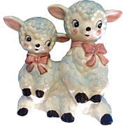 """Vintage Fine Quality """"A"""" Baby Planter With Two Lambs #55812 Japan Figurine"""