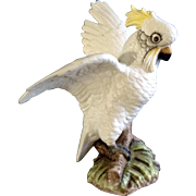 Vintage Large Lefton Cockatoo Hand Painted Japan Ceramic Rare Figurine