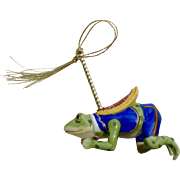 Lenox China Carousel FROG Christmas Tree Ornament 1989 Figurine