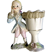 Vintage Lipper and Mann Japan Colonial Lace Boy Planter Figurine