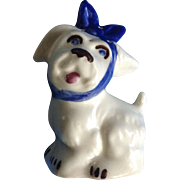 Vintage Shawnee Muggsy Tooth Ache Dog Salt OR Pepper Shaker SINGLE Ceramic Figurine 4 Holes