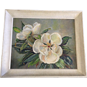 M Horst, Oil Painting, Gardenia Flowers Still Life Signed By Artist