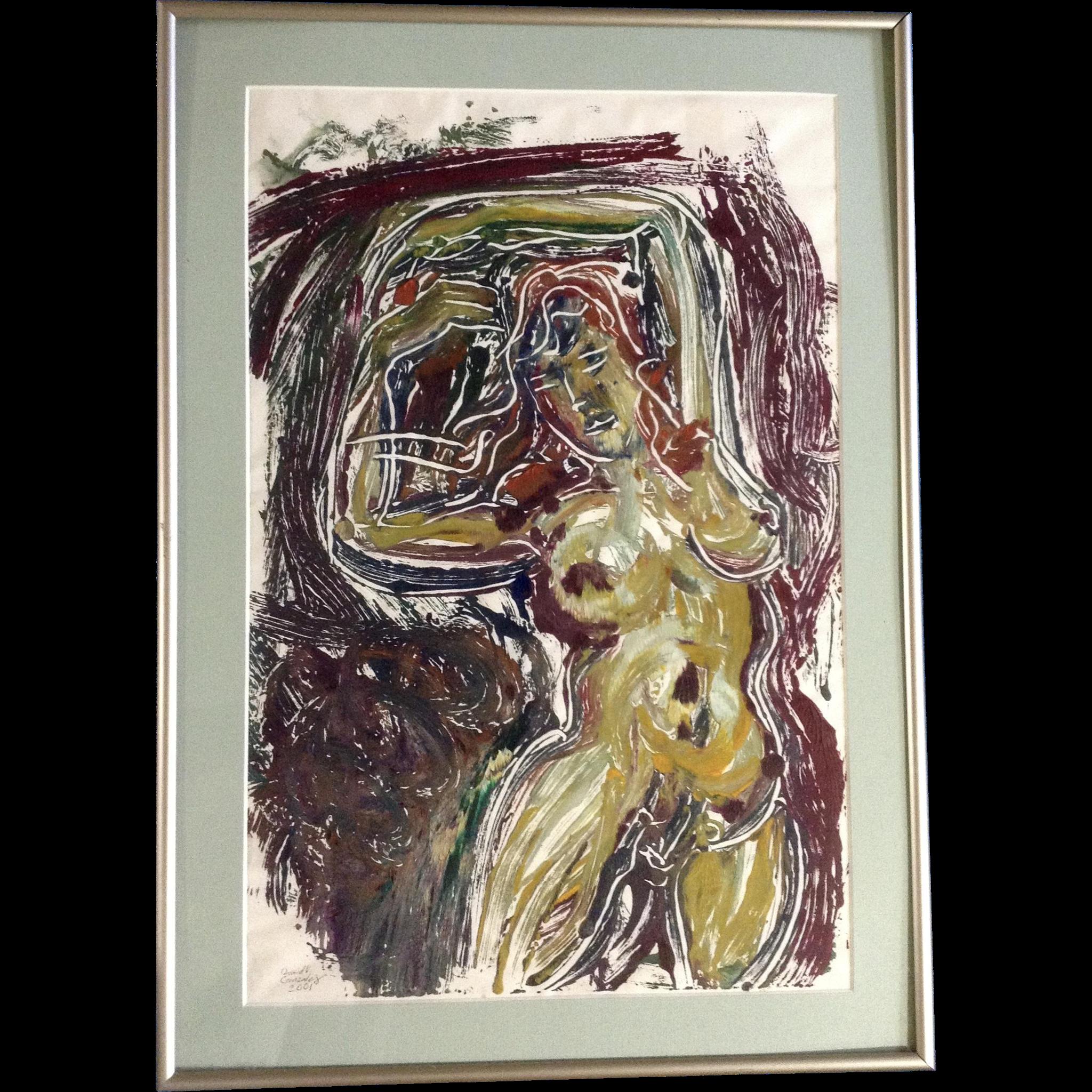 Items similar to WIne Painting on Canvas - Original
