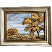 K. M. Skaggs, Arizona Cottonwood Plein Air Oil Painting Signed By Artist