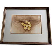 Barbara Stark, Aspen Cluster Leaves Watercolor Works on Paper Signed by Denver Artist