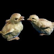 Vintage Lefton Baby Yellow Chicks Bisque Japan Ceramic Figurines 08294