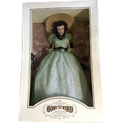 Franklin Mint Scarlett O'Hara Vinyl Doll Twelve Oaks BBQ Collector's Edition Retired Figurine
