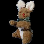 Vintage Stuffed Plush Bunny Rabbit original tag BAKI PLUSCHTIERE 1960-1980