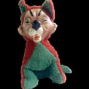1959 Big Bad Wolf Rubber Face Stuffed Plush Animal Gloria Toy Company