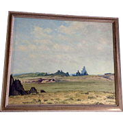 James Emery Greer (1948 - 1990), Monument Valley Arizona - Utah, Skyscape Oil Painting Original on Canvas, Signed by Listed Artist