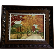 Verna Roy Stevens, Fall In Vermont, Oil Painting on Canvas Panel Signed by Artist
