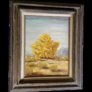 Nettie Bliss, Palo Verde Desert Brush, Oil Painting Signed by New Mexico Artist