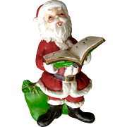 Vintage Josef Originals Christmas Santa Claus With Toy Bag Ceramic Japan Figurine