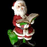 Vintage Josef Originals Christmas Santa Claus With Toy Bag Ceramic Japan Figurine