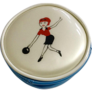 1960's Coin Purse Bowling Teen Tiny Vinyl Zippered Plastic Made in Hong Kong By Mafco