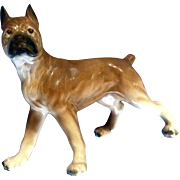 1953 HIC Porcelain Ceramic Boxer Dog Vintage Figurine