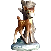 Rare Goebel 1950's BAMBI Deer Bud Vase Walt Disney Vintage Germany Figurine Full Bee