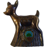 Vintage Oregon Bambi Deer Die-cast Metal Souvenir Japan Figurine