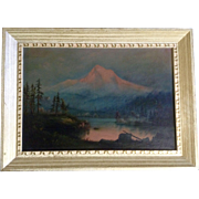 Mitchell, Oil Painting 20th Century Mount Hood Signed by Artist