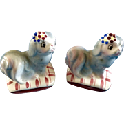 PY Pillow Pooch Dogs Norcrest Anthropomorphic Salt Shakers Mid- Century Japan Figurines