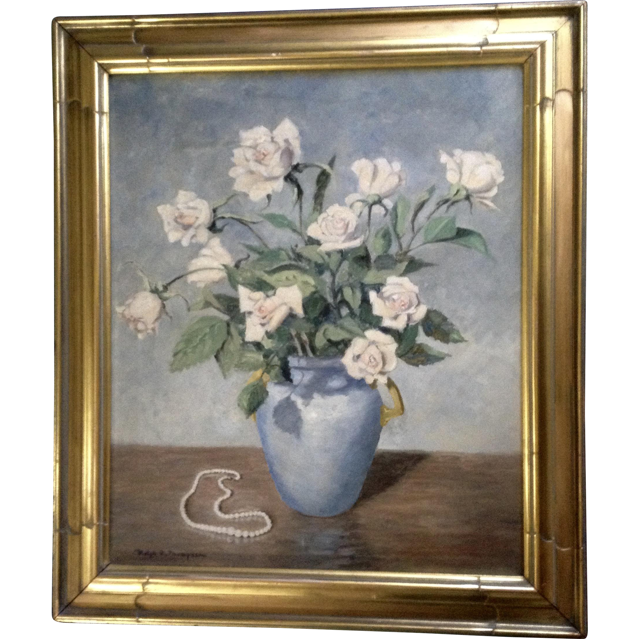 Ralph f thompson oil painting on board still life of flower vase ralph f thompson oil painting on board still life of flower vase and gumgumfuninthesun ruby lane floridaeventfo Images