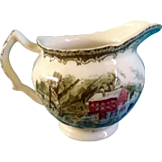 """Discontinued Johnson Brothers The Friendly Village Creamer 4"""" Made in England 1953 - 2003"""