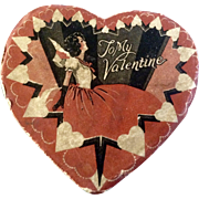 To My Valentine 1940's- 1950's Little Chocolate Candy box full of Nostalgic Newspaper Clippings