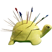 Vintage Turtle Toothpick Appetizer Hors d-oeuvres Holder Made in Florina Greece Mid-Century Souvenir