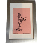 Seth A. Lockard, Linocut Stamp Works on Paper Numbered Limited Edition Signed by Artist
